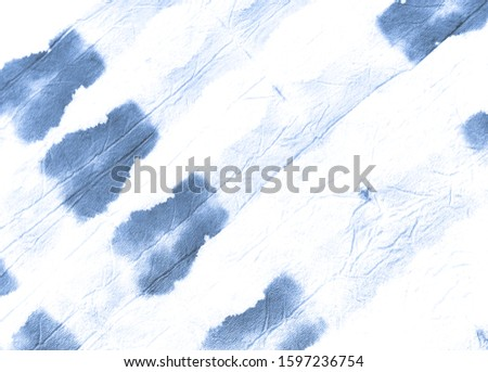 Watercolour Grunge Paint. Abstract Dyed Background. White Blue Ink Old Rough Fabric. Rough Ornaments Cover. Artistic Tie Dye Banner. African Dye Drawn Poster.