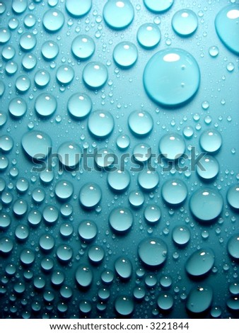 waterdrops on blue