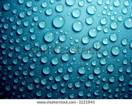 waterdrops on blue 2