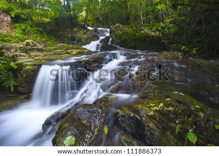 waterfal in deep forest in JedKod forest