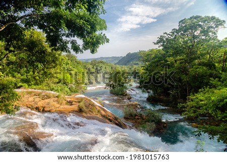 Waterfall Agua Azul, Chiapas. Located in Mexico Foto stock ©