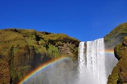 Waterfall and rainbow, Skogafoss Iceland