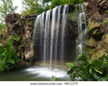 Waterfall At Botanic Garden