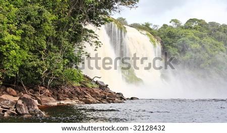 Waterfall at Canaima National Park, Venezuela