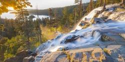 Waterfall at Emerald Bay, Lake Tahoe, USA