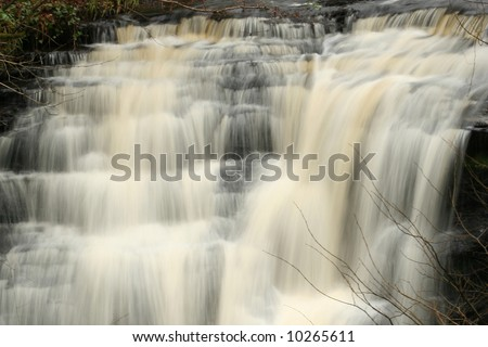 Waterfall at Lambdoughty Glen, Straiton