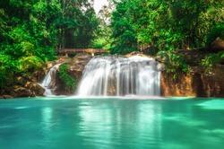 Waterfall at Mae Sa waterfall national park in Mae Rim, Chiang Mai, Thailand