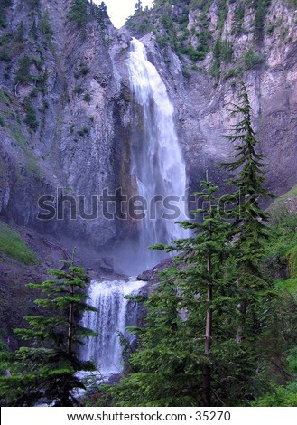 Waterfall at Mount Ranier National Park