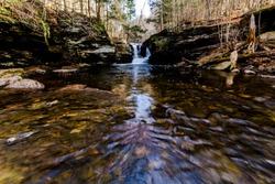 Waterfall at Rickets Glenn Park in PA