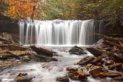 Waterfall at Ricketts Glen State Park,Benton,Pennsylvania