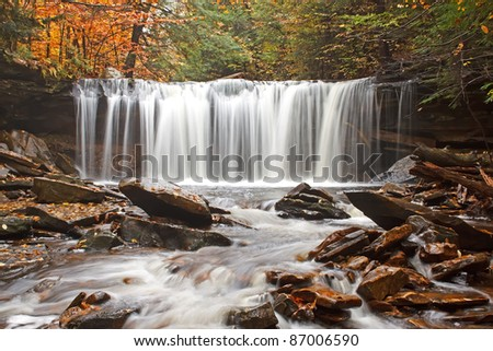 Waterfall at Ricketts Glen State Park,Benton,Pennsylvania