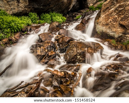 Waterfall at Rocky Mountain National Park, Colorado
