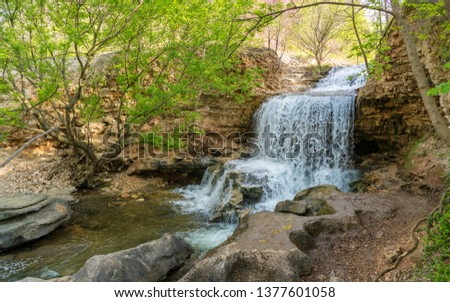 Waterfall at Tanyard Creek Nature Trail, Bella Vista, Arkansas #1377601058