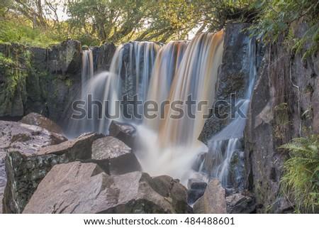 Waterfall at Tullydermot, in Co. Cavan, Ireland.