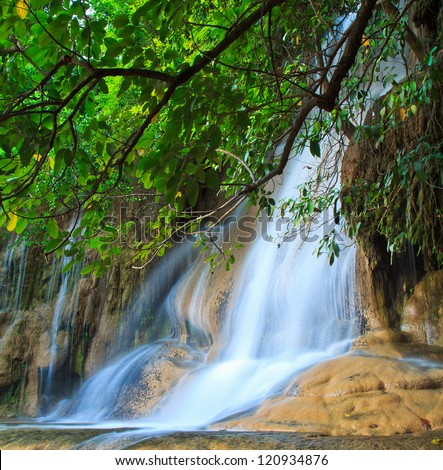 Waterfall  beautiful asia Thailand