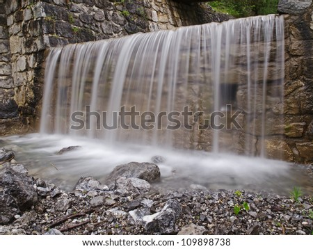 Waterfall / Falling mountain creek