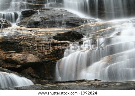 Waterfall flowing over rocks