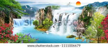 Waterfall Flying