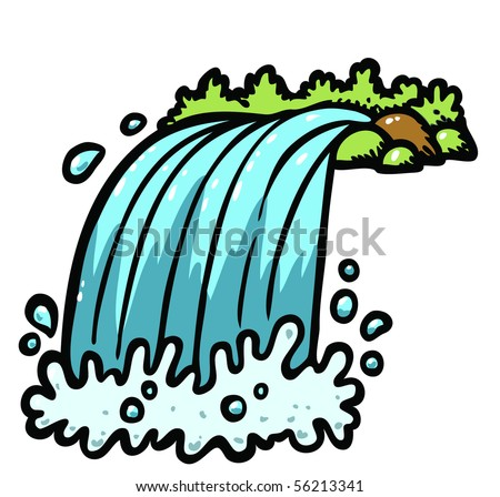 Download image Cartoon Waterfall Clip Art PC, Android, iPhone and iPad