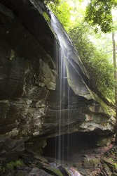 Waterfall in Appalachian mountains, North Carolina.