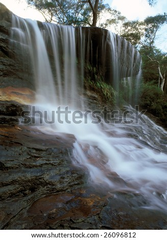 Waterfall in Blue Mountains New South Wales NSW Australia Pacific