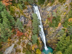Waterfall in Bujaruelo valley close to Ordesa and Monte Perdido National Park, Huesca province, Spain