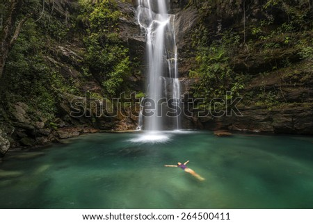 Waterfall in Chapada dos Veadeiros National Park -  Brazil