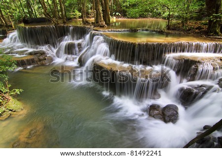 waterfall in deep forest in Karnjanaburi