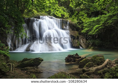 waterfall in deep forest of Thailand