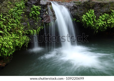 Waterfall in deep forest, thailand