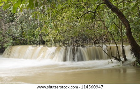 "Waterfall in forest, names ""Huay Mae Khamin"" in Thailand"
