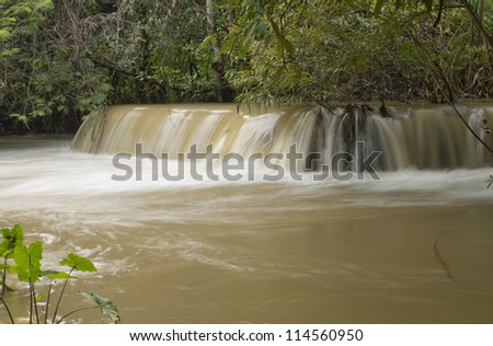 "Waterfall in forest, names ""Huay Mae Khamin"" in Thailand - stock photo"