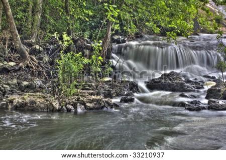 Waterfall in missouri HDR image