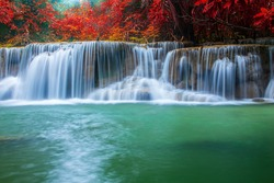 Waterfall in mountain forests
