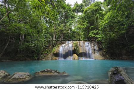 Waterfall in national deep forest of Thailand