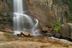 Waterfall in rainforest in Srilanka.