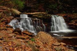 Waterfall in Rickets Glen State park, Pennsylvania