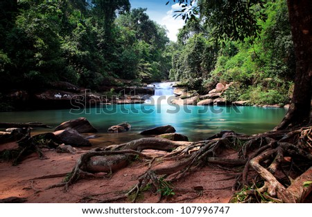 waterfall in thai national park.