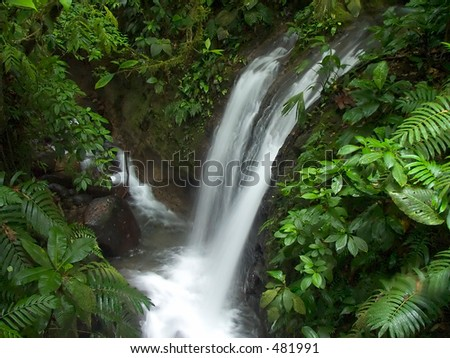 Waterfall in the Chachagua rain forest, Costa Rica