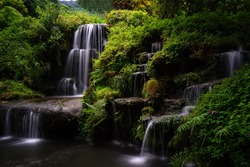 Waterfall in the forest is so beautiful in Thailand