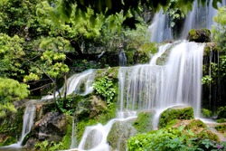 waterfall in the jungle, China, Asia