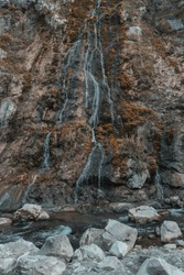 waterfall in the Rugova mountains near Peje, Kosovo