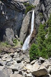 Waterfall in Yosemite national Park, California