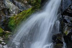 Waterfall is in mountain of Fukuoka prefecture, JAPAN