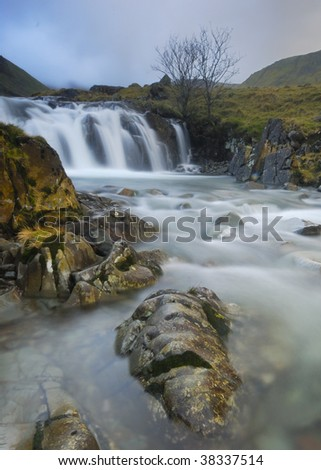 Waterfall, Langstrath valley, Lake District