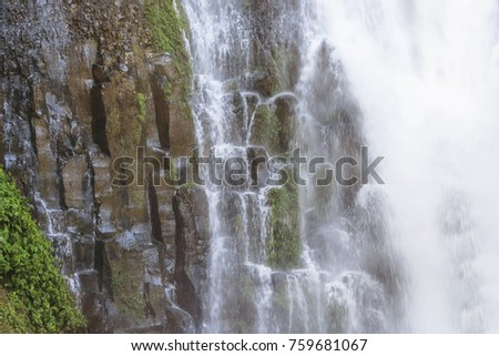 Waterfall Los Chorros in tropical rainforest in Costa Rica - Tacares, Alajuela province, Costa Rica