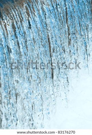 Waterfall macro (background) - stock photo
