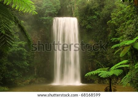 Waterfall, Milla Milla, Queensland, Australia - stock photo