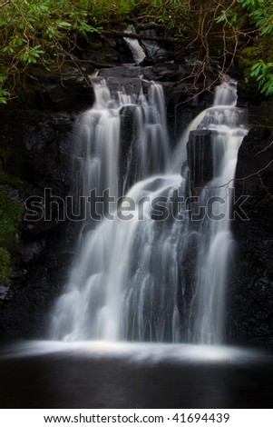 Waterfall near Dunvagan castle on the Isle of Skye