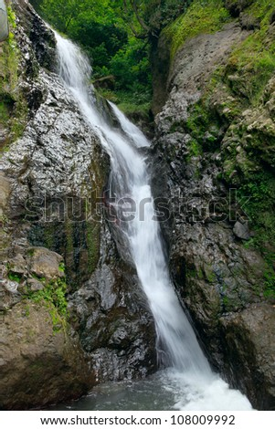 waterfall near the sculpture of st andrew in batumi georgia ez canvas